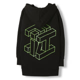 YANKTON Black Cube -  Knitted Oversized Hoody 3