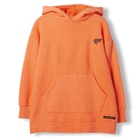 YANKTON Orange -  Knitted Oversized Hoody 1