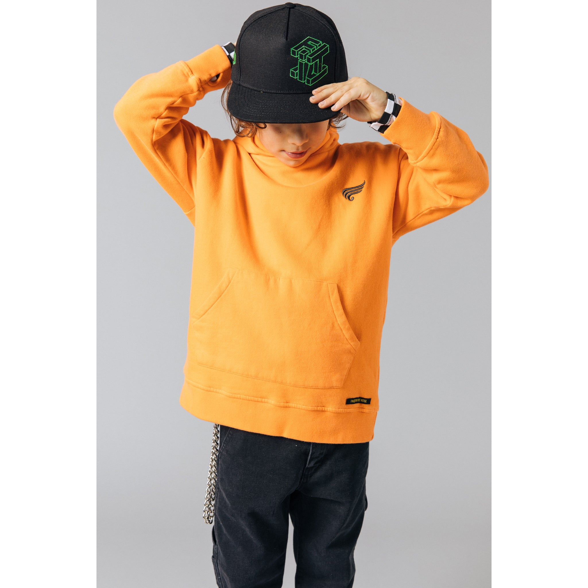 YANKTON Orange -  Knitted Oversized Hoody 2