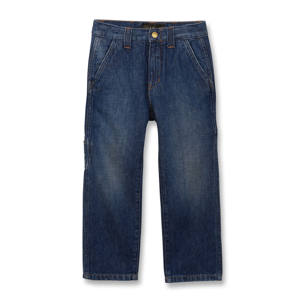 CARPENTER Medium Blue - Multipocket Baggy Fit Jeans