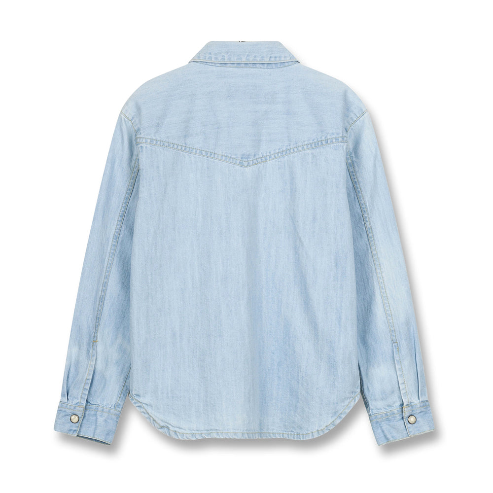 DUSK Bleached Blue - Long Sleeve Shirt