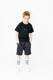 "PLAYER Black - Boy ""Basketball"" Fishnet Short"