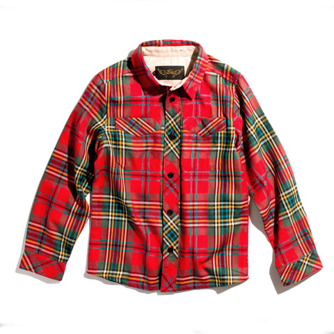 HARPER Red Check - Woven Long Sleeve Shirt