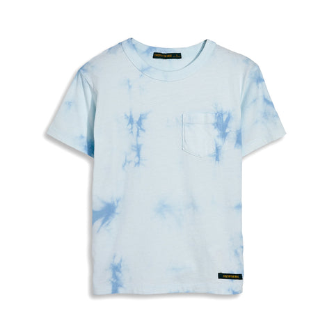 KID Pale Blue Tie & Dye -  Short Sleeve Tee-Shirt