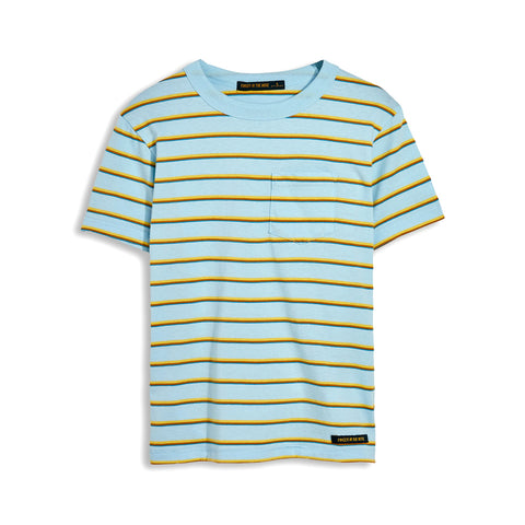 KID Sun Blue Stripes - Short Sleeve Tee-Shirt