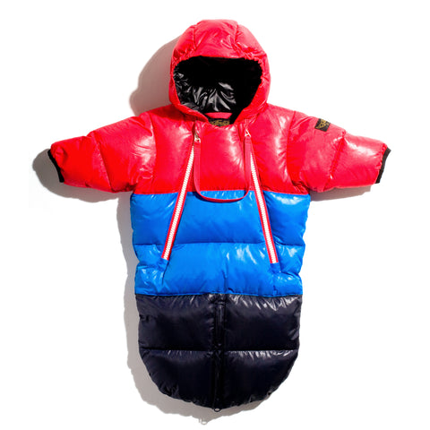 SNOWBIRD Vintage Red/Peak - Down Baby Warmer