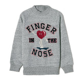 MILLIE Heather Grey College Heart - Raglan Sleeves Sweatshirt
