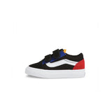 VANS Toddler Old Skool V - (Color Block) Black-True White