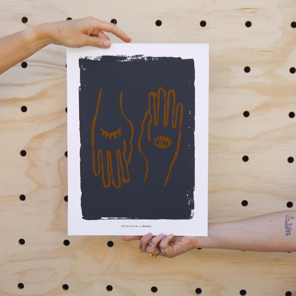 Hand to Eye Art Print - Konoc X Sophie Ward Studio