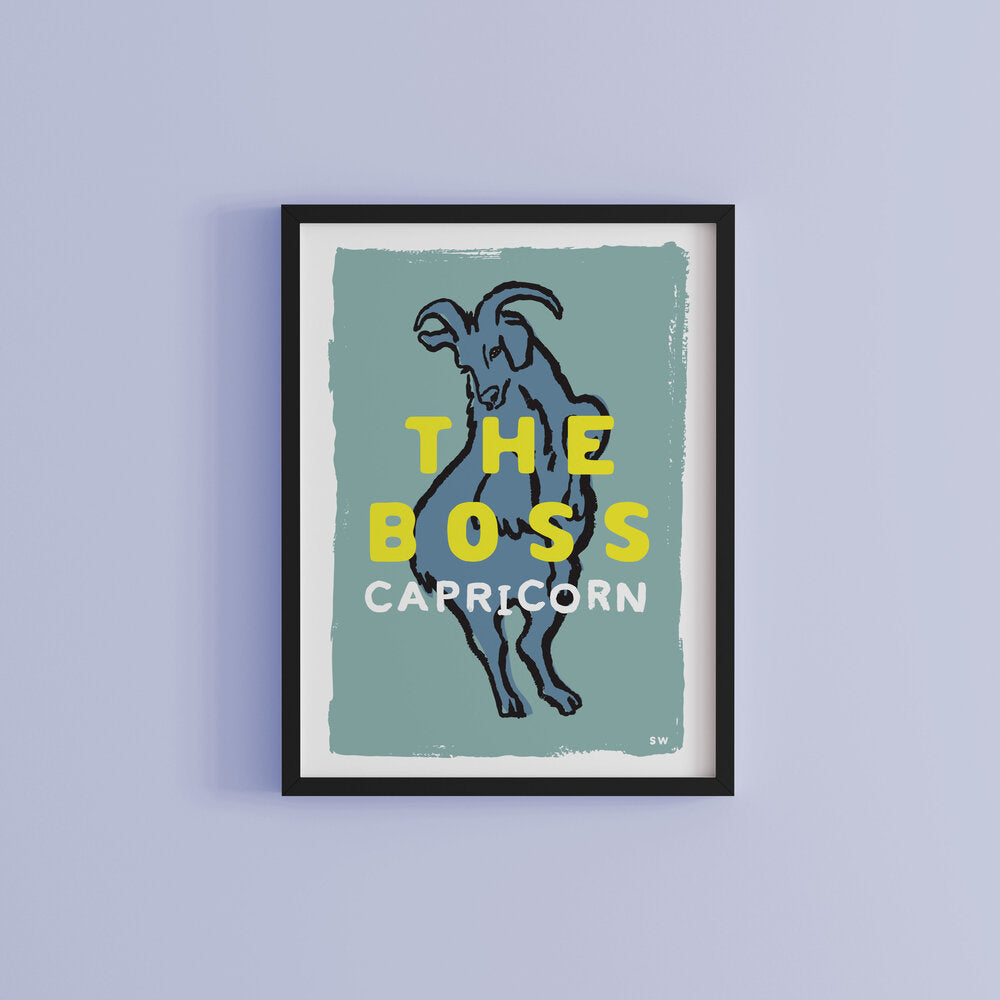 Capricorn Zodiac Personalised Art Print