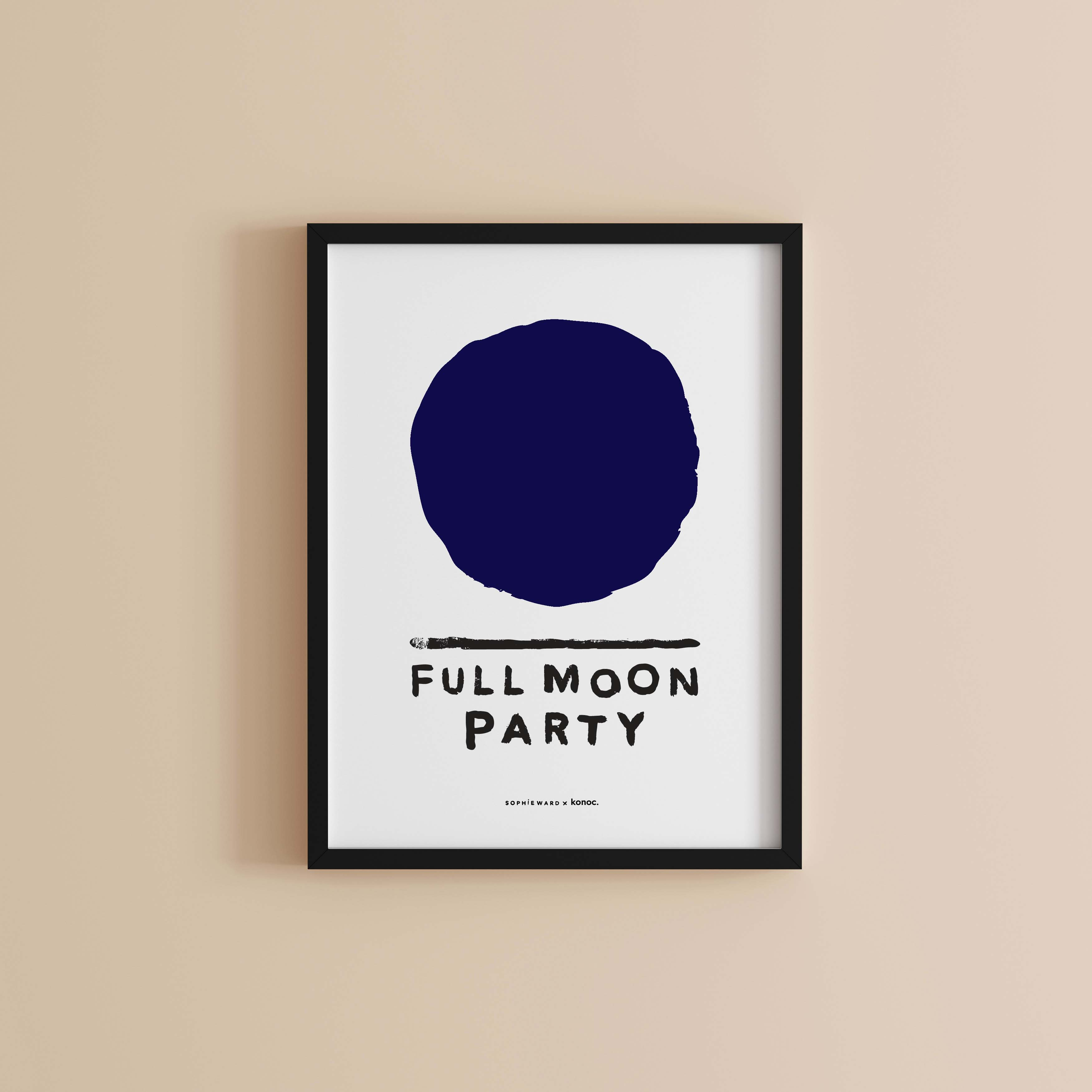 Full Moon Party Art Print KONOC and Sophie Ward Studio