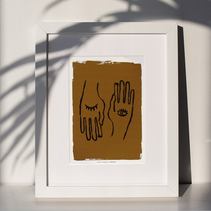 Hand to Eye Art Print - Amber - Konoc X Sophie Ward Studio