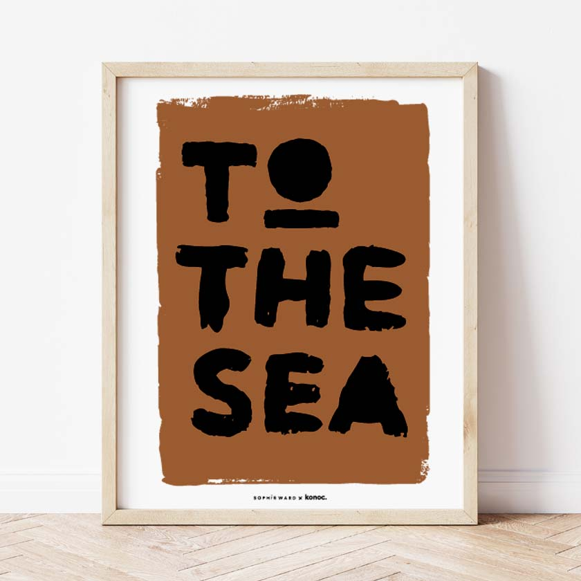 To The Sea Print Blue