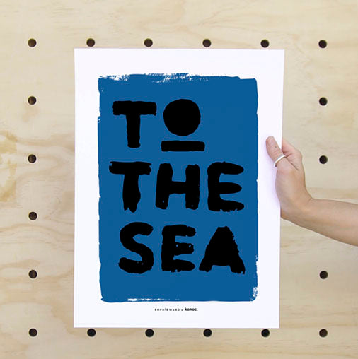 To The Sea Print Amber
