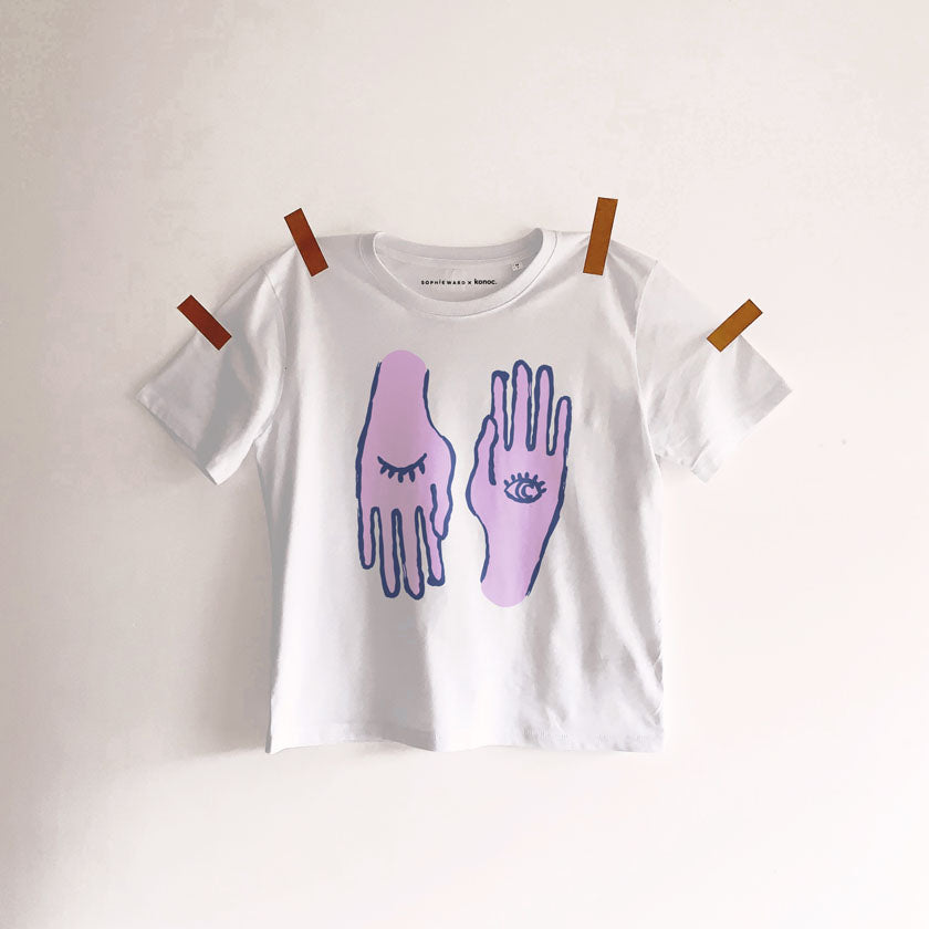 HAND TO EYE T-SHIRT lilac