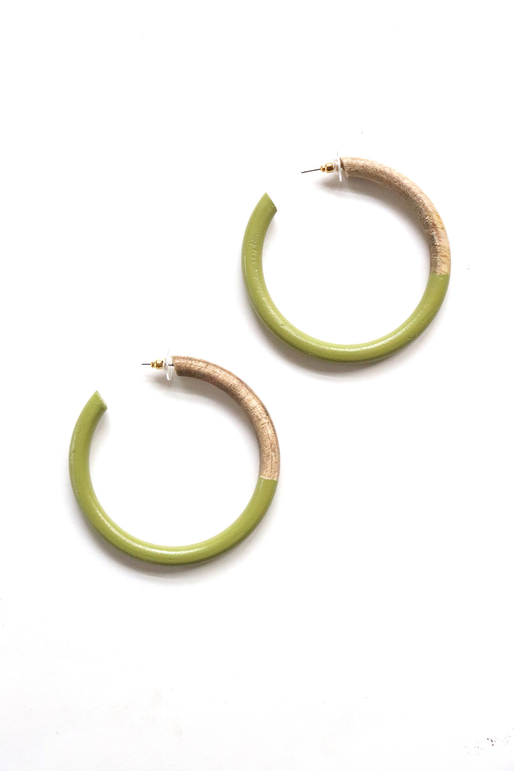 Green Wood Painted Hoops