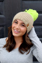 Load image into Gallery viewer, Neon Green Large Pom Hat