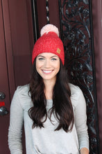 Load image into Gallery viewer, Red Hat with Pink Pom