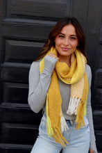 Load image into Gallery viewer, Yellow Herringbone Scarf