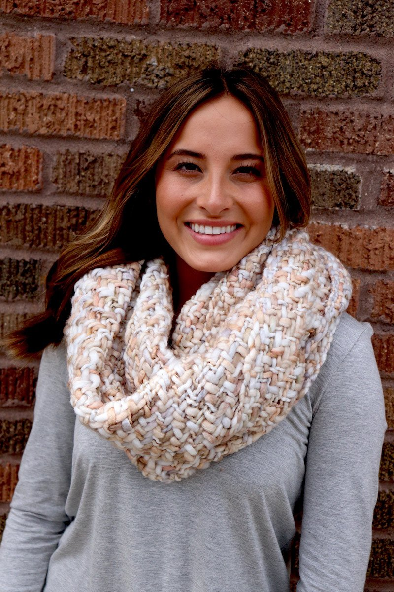 Ivory Woven Infinity Scarf