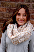 Load image into Gallery viewer, Ivory Woven Infinity Scarf