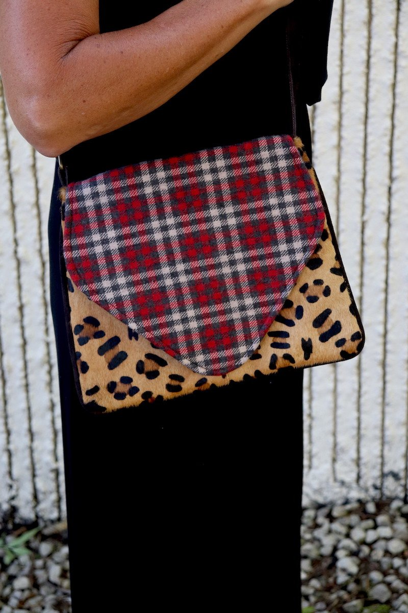 Cheetah and Plaid Crossbody