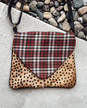 Load image into Gallery viewer, Leopard and Plaid Crossbody