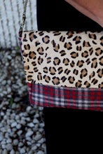 Load image into Gallery viewer, Rectangle Leopard and Plaid Crossbody
