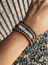 Load image into Gallery viewer, Warrior Bracelet - Gold & Colored Beads