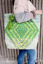 Load image into Gallery viewer, Green Diamond Print Bag