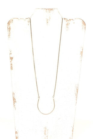 Long U-shaped Necklace - Silver