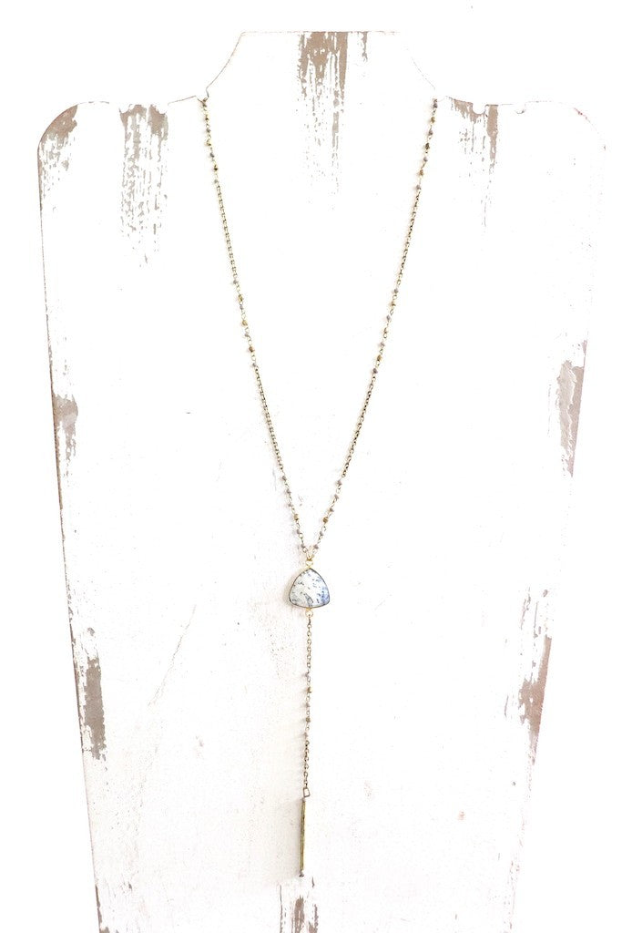 Stone Accent Lariat Necklace