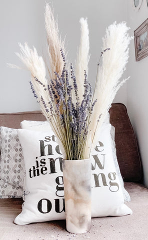 how to style your dried florals dried lavender