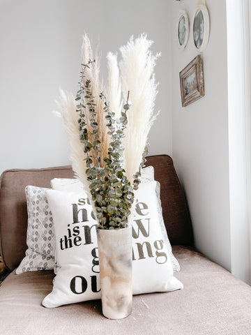 how to style your dried florals eucalyptus