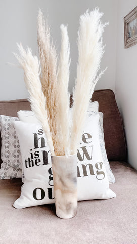 how to style your dried florals pampas grass