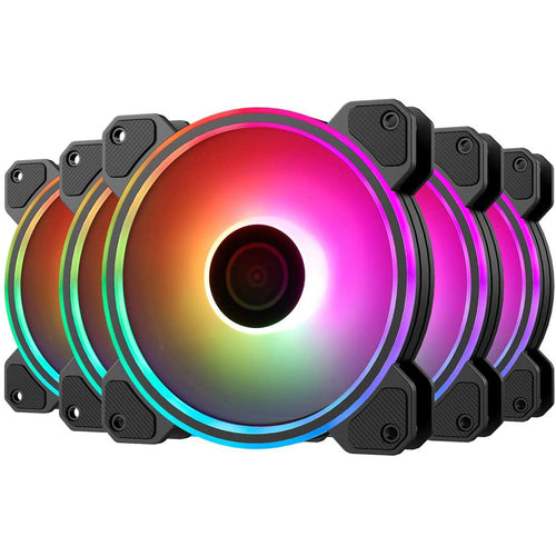 KB-24 RGB Case Fans, 5 Pack 120mm - Ecroborder store