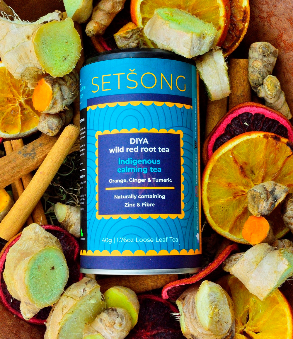 Calming Tea – Diya Red Root Tea | Orange, Ginger & Turmeric Infusion