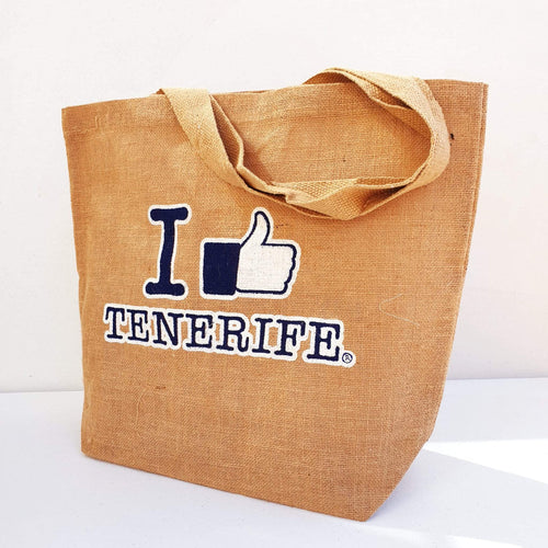 Juta bag I Like Tenerife | Shopping bag unisex - Tenerife Surprise Shop
