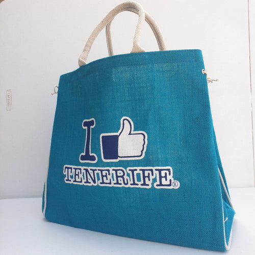 Jute bag I Like Tenerife | Beach bag unisex - Tenerife Surprise Shop