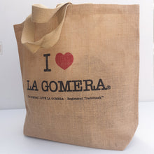 Load image into Gallery viewer, Juta bag I Love La Gomera | Shopping bag unisex - Tenerife Surprise Shop