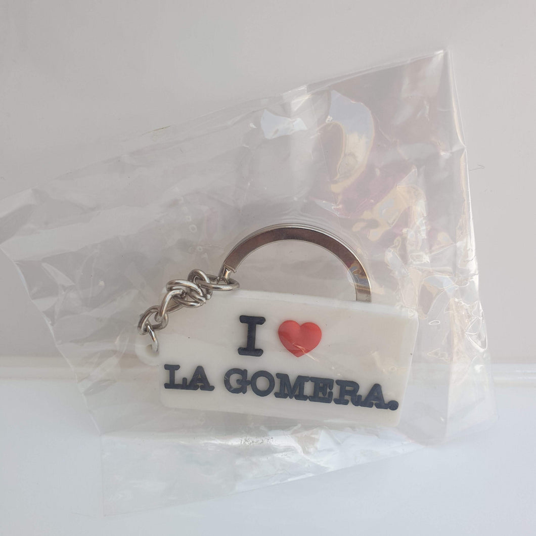 Keychain I love La Gomera | Rectangular - Tenerife Surprise Shop