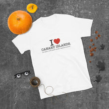 Load image into Gallery viewer, T-shirt I LOVE CANARY ISLANDS | Original and Unisex short-sleeves T-shirt - Tenerife Surprise Shop