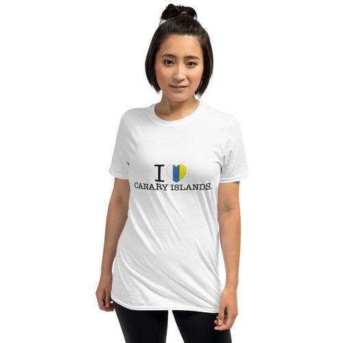 T-shirt I LOVE CANARY ISLANDS | Original and Unisex short-sleeves T-shirt - Tenerife Surprise Shop