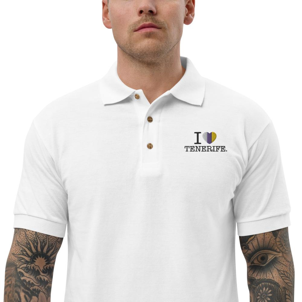 Embroidered man's polo shirt I LOVE TENERIFE - Tenerife Surprise Shop