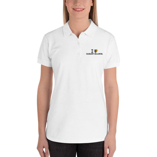 Embroidered I LOVE CANARY ISLANDS woman's Polo Shirt - Tenerife Surprise Shop