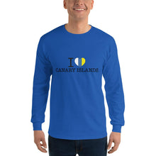 Load image into Gallery viewer, Man's Long Sleeve Shirt I LOVE CANARY ISLANDS - Tenerife Surprise Shop