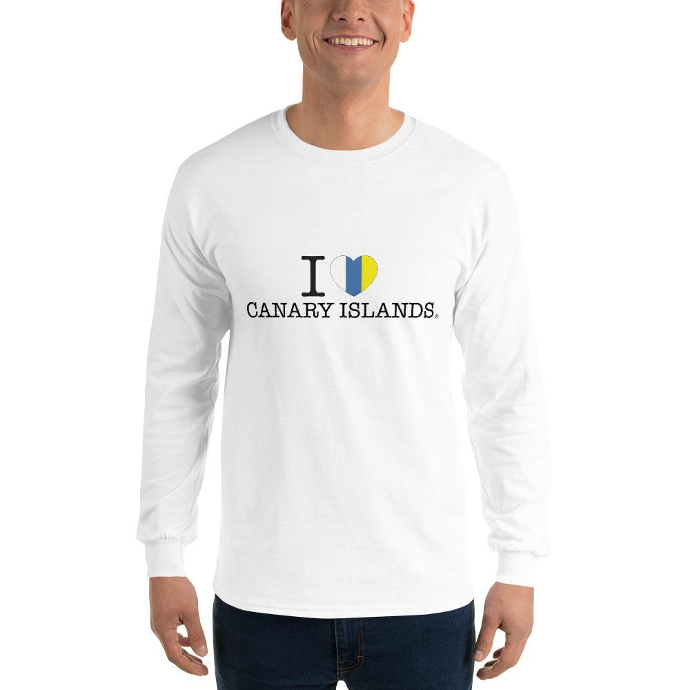 Man's Long Sleeve Shirt I LOVE CANARY ISLANDS - Tenerife Surprise Shop