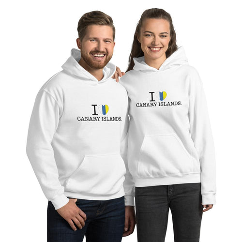 Unisex Hoodie I LOVE CANARY ISLANDS - Tenerife Surprise Shop