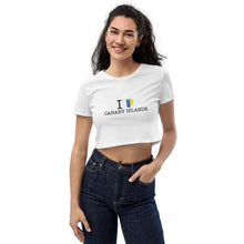 Load image into Gallery viewer, Organic Crop Top I LOVE CANARY ISLANDS - Tenerife Surprise Shop