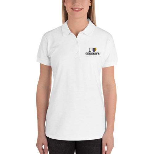 Embroidered I LOVE TENERIFE woman's Polo Shirt - Tenerife Surprise Shop